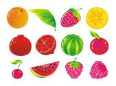 Fruit allsorts — Stock Vector