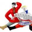 Stock Photo: Ceramic figure of two dancing wit