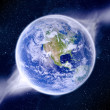Global warming effect on earth — Stock Photo