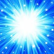Royalty-Free Stock Photo: Blue abstract background star explosion