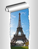 Paris postcard eiffel tower — Stock Photo