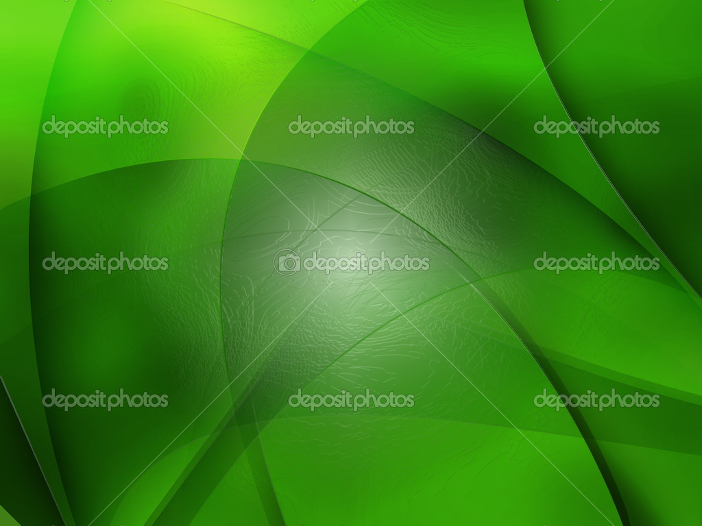 Abstract composition with curves, lines, gradients green leaf  Stock Photo #2425135