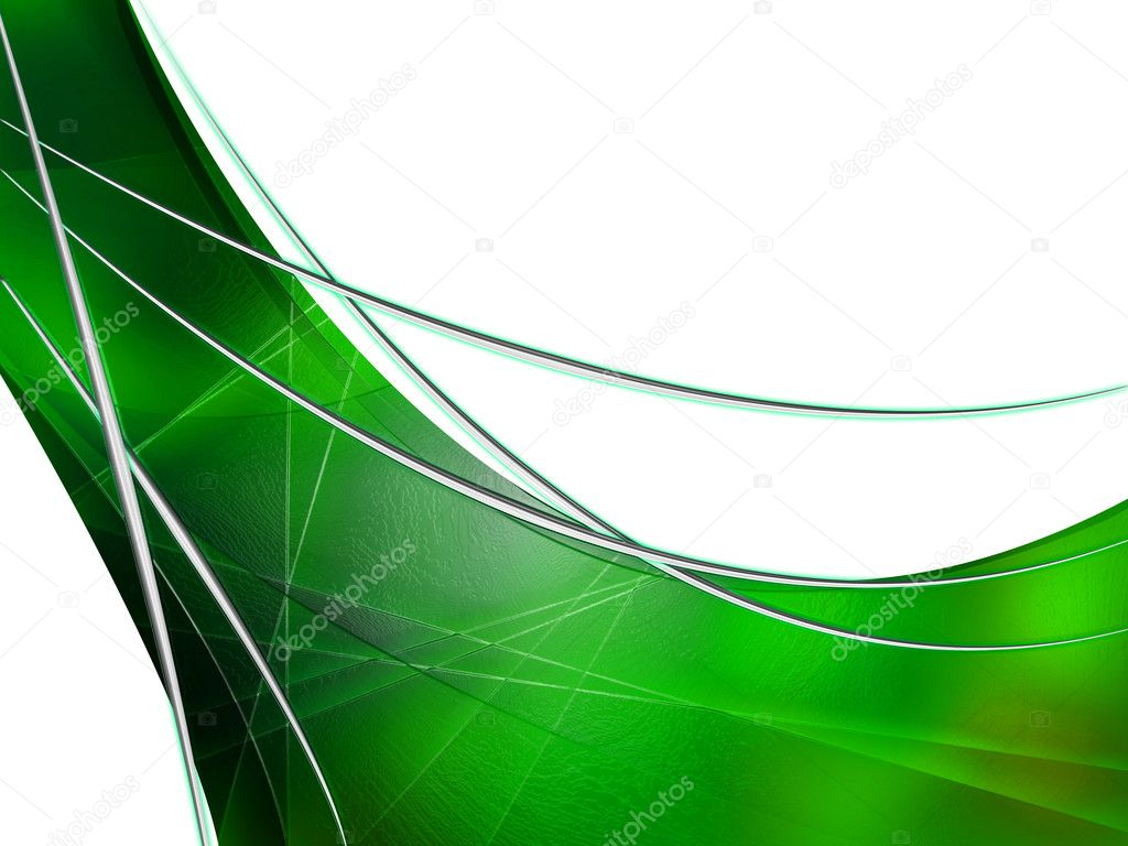 Abstract composition with curves, lines, gradients green leaf — Stock Photo #2425292