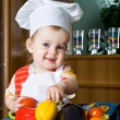 Stock Photo: Baby in cook costume
