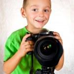 Baby boy photographer — Stock Photo