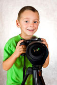 Baby boy photographer — Stock Photo