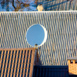 Satellite dishe on roof — Stock Photo #2430203