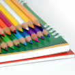 Stock Photo: Color pencil isolated on white, album
