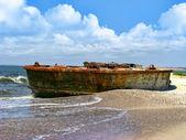 古い船を墜落しました。 — ストック写真