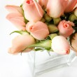 Little pink roses bouquet — Stock Photo