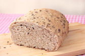 Wholemeal bread with seeds — Stock Photo