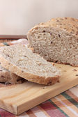 Sliced wholemeal bread with seeds — Stock Photo