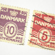 Denmark postage stamps — Stock Photo