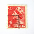 Australia postage stamp with the Queen — Stock Photo