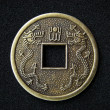 Chinese feng shui coin — Stock Photo