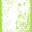 Floral background in green, vector — Stock Vector