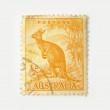 Australia postage stamp with kangaroo — Stock Photo
