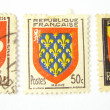 Set of 3 postage stamps from France — Stock Photo