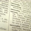 Success word in dictionary — Foto de Stock