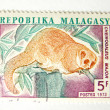 Madagascar postage stamp with monkey — Stock Photo
