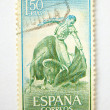 Spain postage stamp with bullfighting - Stock Photo