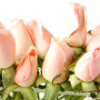Little pink roses border — Stock Photo #2626800