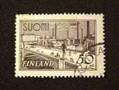 Finland postage stamp — Stock Photo