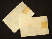 Blank postage stamps — Stock Photo