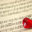 Music score & heart — Foto de stock #2668756