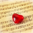 Stock Photo: Music score & heart