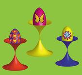 Easter eggs, vector illustration — Stock Vector