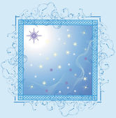 The star sky from a window — Stock Vector