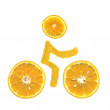 Royalty-Free Stock Photo: Bike orange
