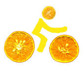 Bike orange — Stock Photo