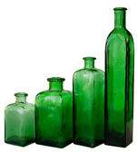 Green bottle isolated — Stock Photo