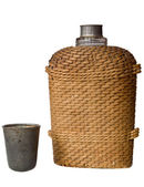 Flask of woven twigs — Stock Photo
