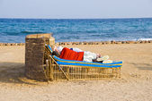 Healthy dream in the open air at the sea — Стоковое фото