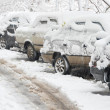 Stock Photo: Winter. Cars under snow