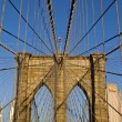 Brooklyn Bridge in detail — Stock Photo