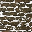 Snowy brick wall — Stock Photo
