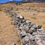 Hierapolis necropolises broken tombs — Stock Photo #2459069