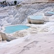 Pamukkale cascade lakes - Stock Photo