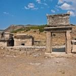 Hierapolis necropolises broken tombs — Stock Photo #2459888