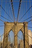 Brooklyn Bridge in detail — Stock Photo