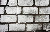 Snowy path pavement — Stock Photo