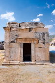 Hierapolis necropolises big tomb — Stock Photo