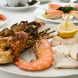 Plate with seafood — Stock Photo