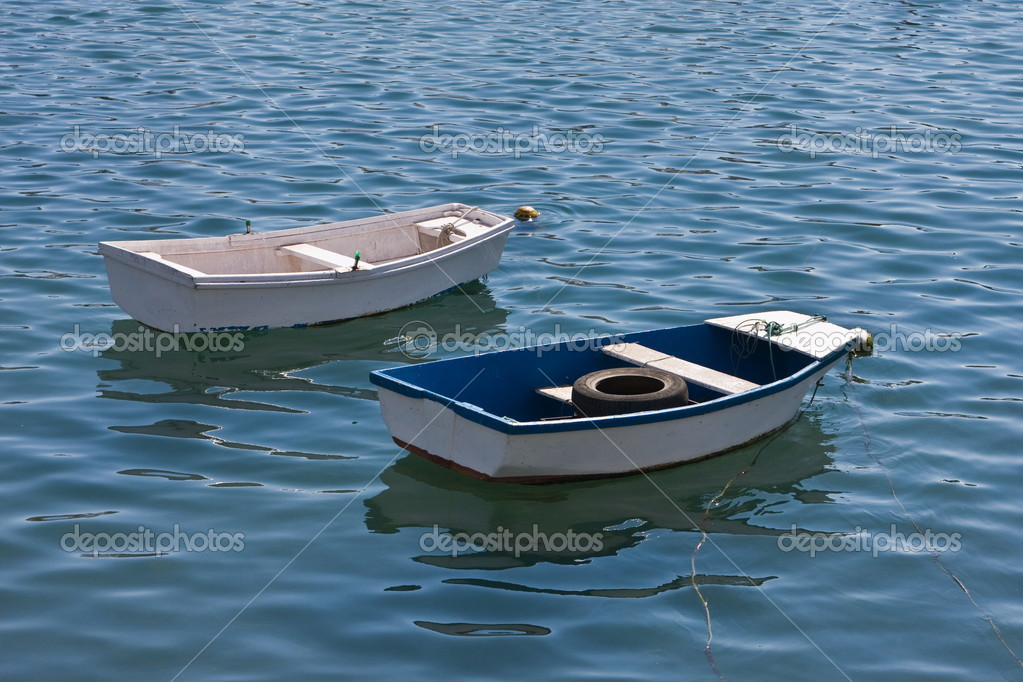 Two small fishing boats stock photo 6bears 2464687 for Little fishing boats
