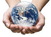 Earth hands — Stock Photo