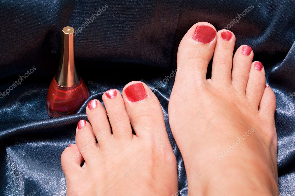 Red pedicure for woman cosmetic  Stock Photo #2401571